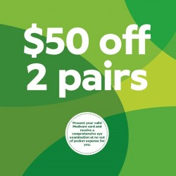 $50 off When Selecting 2 Pairs from the $249 Range or Above - Specsavers Premium Club